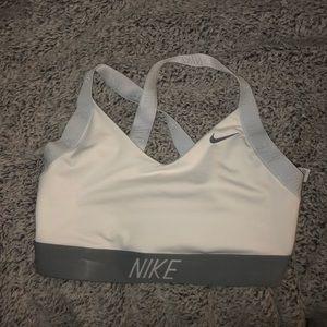 White Nike criss cross back Sportsbra